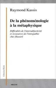 De la phénoménologie à la métaphysique. - Difficultés de lintersubjectivité et ressources de lintropathie chez Husserl.pdf