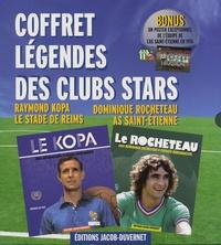 Raymond Kopa et Dominique Rocheteau - Coffret légendes des clubs stars - En bonus un poster exceptionnnel de l'équipe de L'AS Saint-Etienne en 1976.