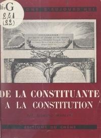 Raymond Manevy - De la Constituante à la constitution.