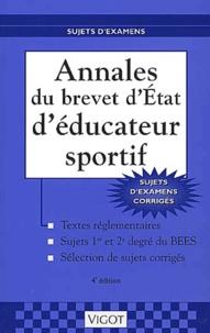 Annales du brevet dEtat déducateur sportif. Sujets dexamens corrigés, 4ème édition.pdf