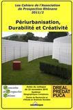 Raymond Woessner et Henri Nonn - Périurbanisation, Durabilité et Créativité - Colloque du 22 novembre 2010, MISHA, Strasbourg.