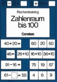 Rechentraining. Zahlenraum bis 100 - Mit 2 Schablonen.