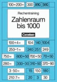 Rechentraining. Zahlenraum bis 1000 - Mit 2 Kartonblättern und 2 Schablonen.