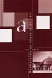 Jean-Paul Bouillon - Recherches en Histoire de l'art N° 1/2002 : .