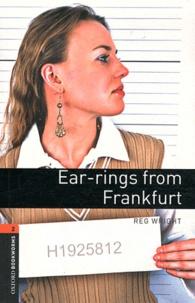 Reg Wright - Ear-rings from Frankfurt. 1 CD audio
