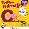 Régine Quéva - La ferme avec petit panda - Coloriage Maternelle MS 4-5 ans.