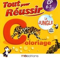 Régine Quéva - La jungle avec petit panda - Coloriage CP 6-7 ans.