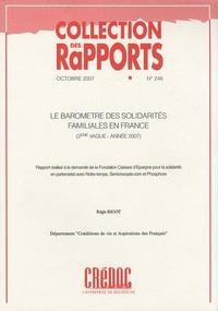 Régis Bigot - Le baromètre des solidarités familiales en France (2e vague - année 2007).