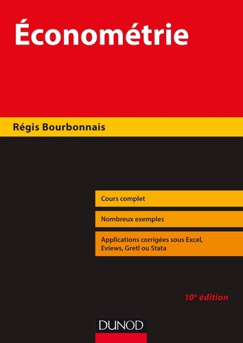 Économétrie - Régis Bourbonnais - Format PDF - 9782100777211 - 22,99 €