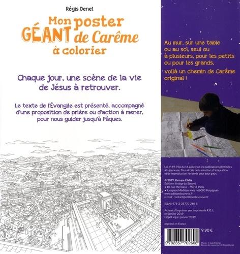 Mon poster géant de Carême à colorier