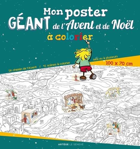 Mon poster géant de l'Avent et de Noël à colorier