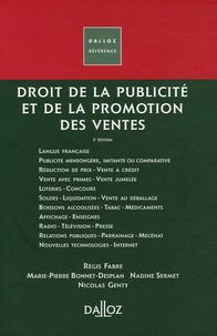 Régis Fabre et Marie-Pierre Bonnet-Desplan - Droit de la publicité et de la promotion des ventes.