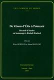 Régis Morelon et Ahmad Hasnawi - De Zénon d'Elée à Poincaré - Recueil d'études en hommage à Roshdi Rashed.
