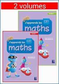 Rémi Brissiaud - J'apprends les maths CE1 - Fichiers 1 et 2, pack en 2 volumes.