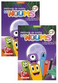 Rémi Brissiaud et  DragonBox Ecole - Méthode de maths CP Les Noums - Fichier de l'élève en 2 volumes.