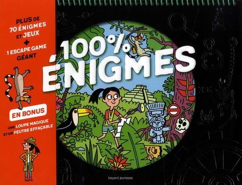Rémi Chaurand et Bruno Muscat - 100 % énigmes - Plus de 70 énigmes et jeux + 1 escape game géant, en bonus une loupe magique et un feutre effaçable.