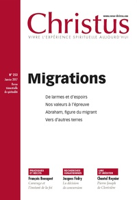 Rémi de Maindreville - Christus N° 253, janvier 2017 : Migrations.
