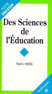 Remi Hess - Des sciences de l'éducation.