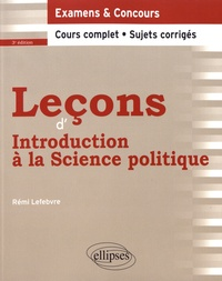 Rémi Lefebvre - Leçons d'introduction à la science politique.