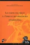 Rémi Lefebvre et Antoine Roger - Les partis politiques à l'épreuve des procédures délibératives.