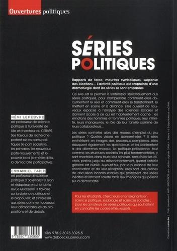 Séries politiques. Le pouvoir entre fiction et vérité