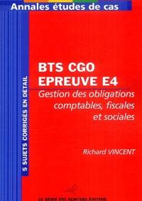 Rémi Martin et Richard Vincent - BTS CGO Epreuve E5 - Analyses de gestion et organisation du système d'information.