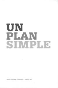 Rémi Parcollet et Florence Ostende - Un plan simple - Perspective, scène, écran ; édition bilingue anglais-français.