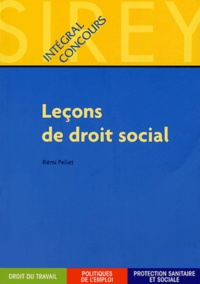 Rémi Pellet - Leçons de droit social.