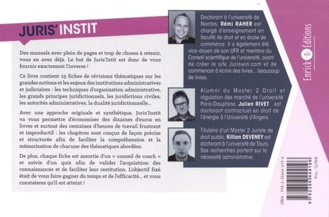 Juris'Instit. 25 fiches pour comprendre et réviser les institutions administratives et judiciaires