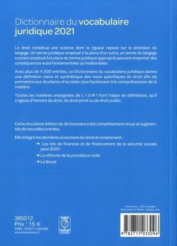 Dictionnaire du vocabulaire juridique  Edition 2021