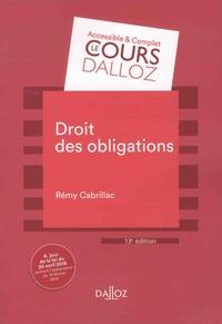 Rémy Cabrillac - Droit des obligations.