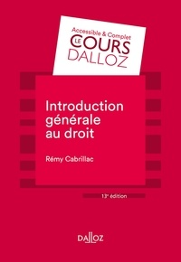 Livres à télécharger gratuitement kindle Introduction générale au droit - 13e éd. par Rémy Cabrillac