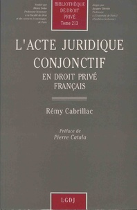 Rémy Cabrillac - L'acte juridique conjonctif en droit privé français.