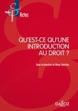 Rémy Cabrillac - Qu'est-ce qu'une introduction au droit ?.