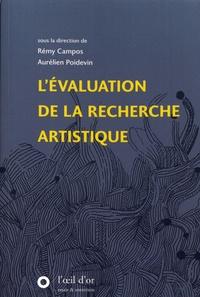 Rémy Campos et Aurélien Poidevin - L'évaluation de la recherche artistique.