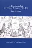 Rémy Duthille - Le discours radical en Grande-Bretagne, 1768-1789.