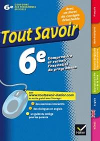 Rémy Georges et Françoise Sutour - Tout Savoir 6e.