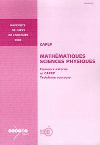 Rémy Jost - CAPLP Mathématiques Sciences Physiques - Concours externe et CAFEP, Troisième concours.