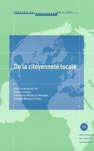 Rémy Leveau - De la citoyenneté locale.