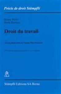 Rémy Wyler et Boris Heinzer - Droit du travail.