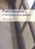 Renaissance des cités d'Europe - Patrimoine et développement durable - Actes des conférences (octobre 2011 - mai 2012).
