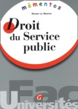 Renan Le Mestre - Droit du service public.