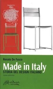 Renato De Fusco - Made in Italy - Storia del design italiano.