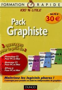 Renaud Alaguillaume et Fabrice Cartalas - Pack Graphiste en 3 volumes : XPress 6 ; Photoshop CS ; Illustrator CS.