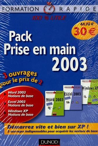 Renaud Alaguillaume et Valérie Martinez - Pack Prise en main 2003 en 3 volumes : Windows XP ; Word 2003 ; Excel 2003.