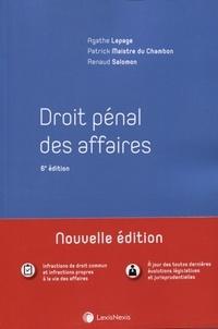 Renaud Salomon et Patrick Maistre du Chambon - Droit pénal des affaires.