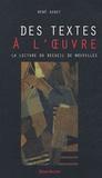 René Audet - Des textes à l'oeuvre - La lecture du recueil de nouvelles.