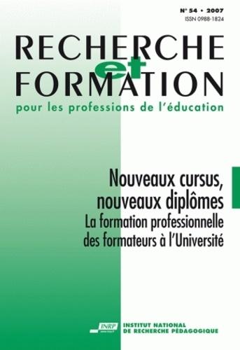 René Bourdoncle - Recherche et Formation pour les professions de l'éducation - Nouveaux cursus, nouveaux diplômes. La formation professionnelle des formateurs à l'université.