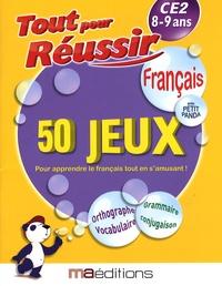 René Canella et Corinne Tarcelin - Français avec petit panda - 50 jeux CE2 8-9 ans.