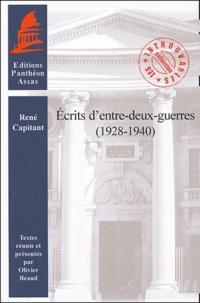 René Capitant - Ecrits d'entre-deux-guerres (1928-1940).